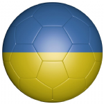 Ukraine Football Flag 58mm Button Badge